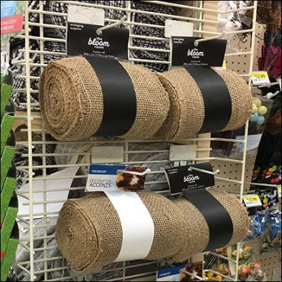 Natural Burlap PowerWing Display Merchandising