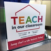 Teach-In-Our-Classroom Restroom Invitation