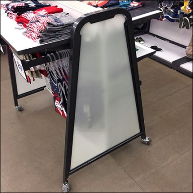 Translucent Tubular-Trapezoid Apparel Rack