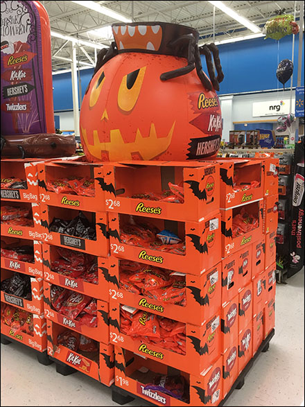 Double-Pallet Reese's Angry-Pumpkin Promotion