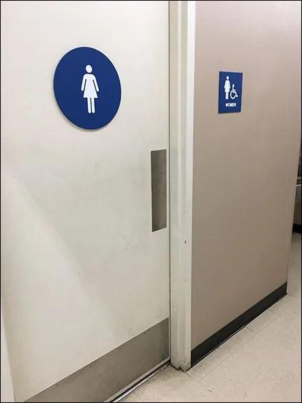 Women's Restroom Circle Gender-Identifier