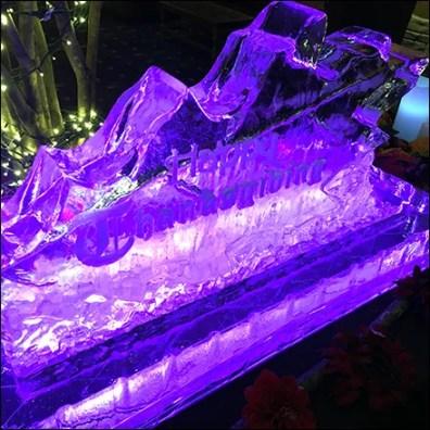 Kalahari Backlit Thanksgiving Ice Sculpture