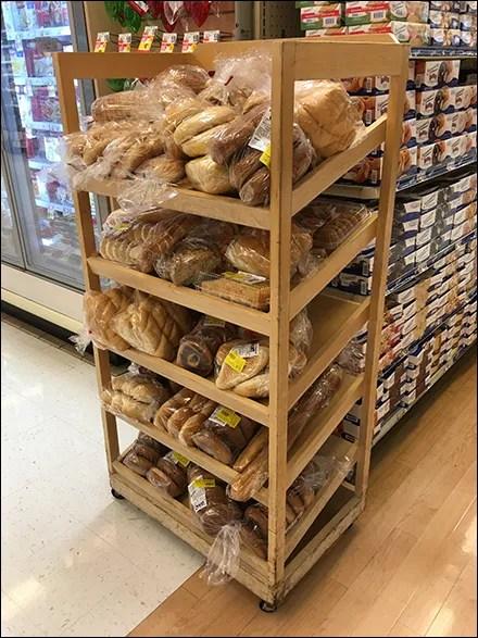 Bakery-Assortment Declined Wood Rack