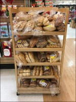 Bakery Angled Wood Rack