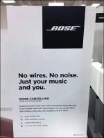 Bose Noise-Canceling Headphone Display