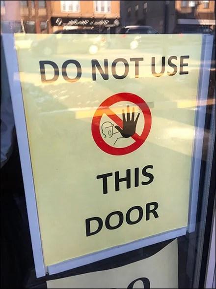 Multilingual Do-Not-Enter Ever Warning