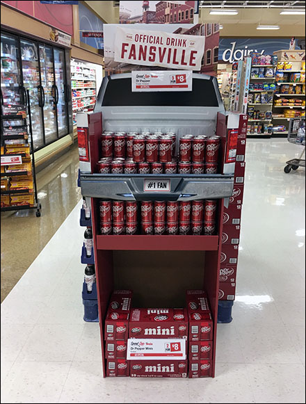 Dr. Pepper Fansville Pickup Truck Display