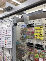 High-Density Two-Layer Pegboard Display
