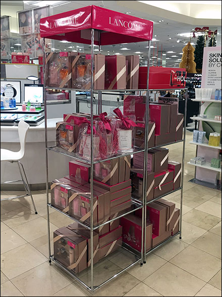 Lancome-Branded Structural Tower Display