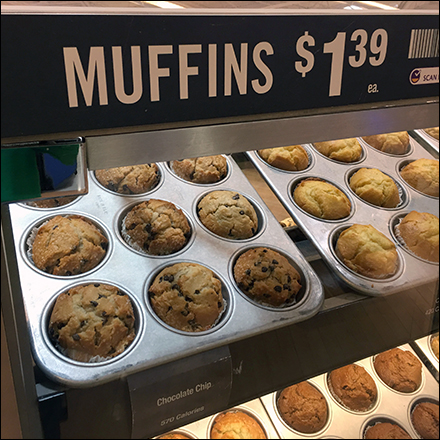 Muffin-Pan-Propped Bakery Stand Display