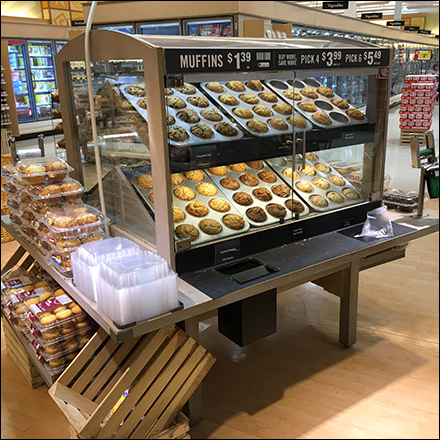 Muffin-Pan-Propped Bakery Cart Sales Square