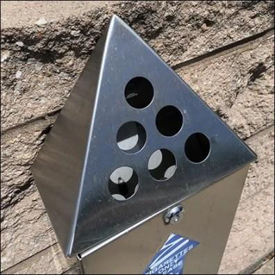 No-Butts-Bin Wall-Mount Cigarette Receptacle