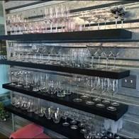 Corrugated-Sheet-Piling Glassware Display