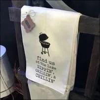 Hand-Towel Ladder Visual-Merchandising