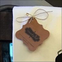 Hand-Towel Twine-Tied Safety-Pin Tag
