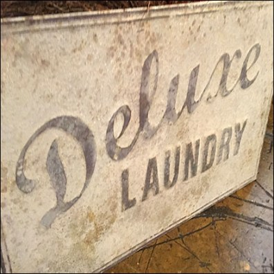 Vintage Deluxe-Laundry Sign Prop