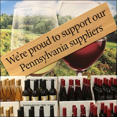 Support-Local-Wineries In-Store Merchandising