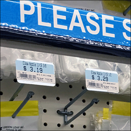 High-Density Sliding-Bin Auxiliary Pegboard Hooks