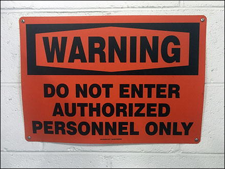 Authorized-Personnel-Only Warning Emphasized