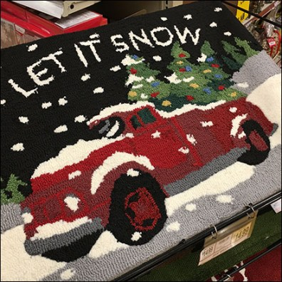 Wegmans Snow Door Mat Rack