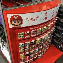XBox Curved-Endcap Pick-Card Merchandising