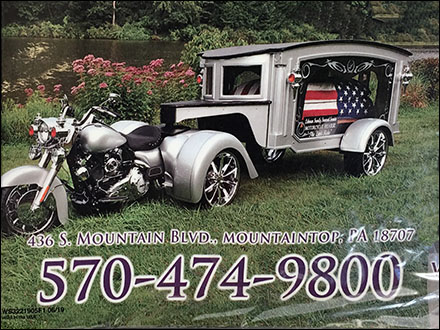Biker Funeral Motorcycle Hearse Advertising