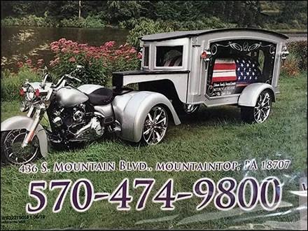 Biker Funeral Motorcycle Hearse Advertising
