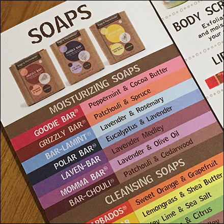 Briggs-&-Featherbelle Color-Coded Soap Brochure