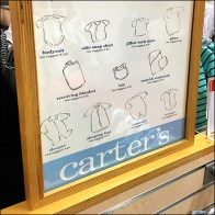 Carter's Baby's First Wardrobe Poster