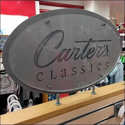 Carter's Engraved Logo Department Branding
