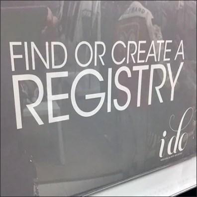 Create A Gift Registry Freestanding Kiosk