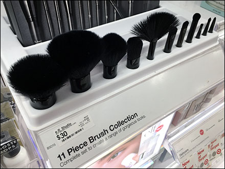 Elf Cosmetics Brush Collection Sample Display
