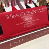 Estee Lauder 31 Beauty Essentials Signage Aux2