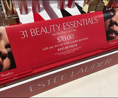 Estee Lauder 31 Beauty Essentials Signage Aux2