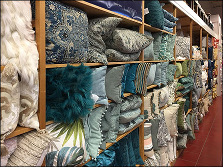 Assorted Pillow Wall Cubicle Array