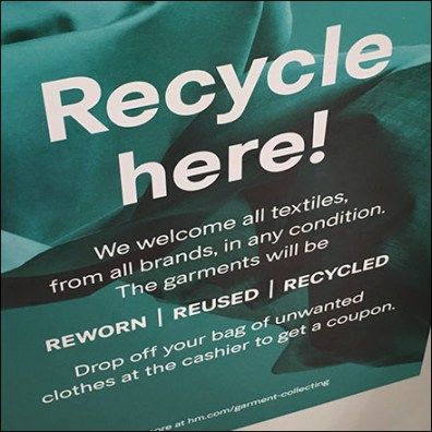 H&M Clothing Recycling Discount Coupon