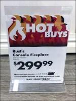 Fireplace Hot-Deals Acrylic Sign Holder