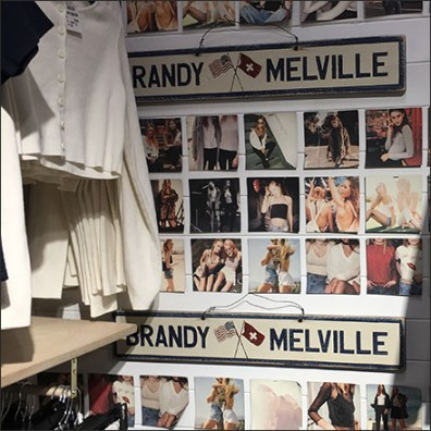 Brandy-Melville Branded Corner Display