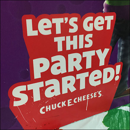 Chuck E Cheese Birthday Party Personalization Table-Top Sign Feature2