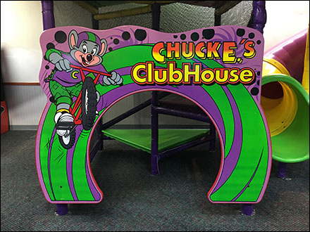Chuck E Cheese Clubhouse Entrance Invitation