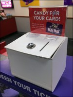 Chuck E Cheese Pass-Card Ballot-Box Recycling