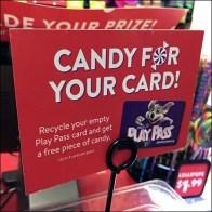 Chuck E Cheese Pass-Card Candy Trade-In