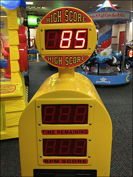 Chuck E Cheese Treadmill High-Score Motivation