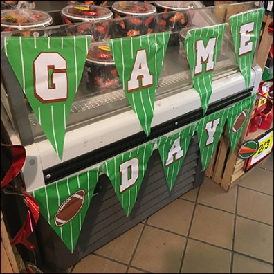 Game-Day-Pennants Free Wings Cooler Display