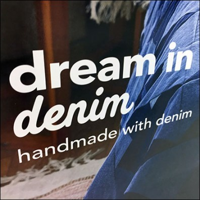 Dream-In-Denim Handmade Fabric Pitch