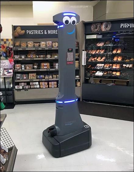 Retail Robot Welcoming Committee Host