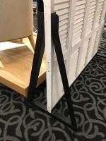 Lounge-Branded Shutter Backdrop Display