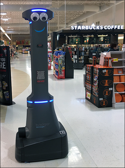Twin Retail Robot Starbucks Coffee-Break