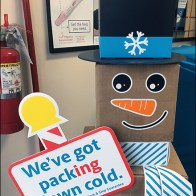 UPS Shipping Box Snowman Has Packing Down Cold Main2