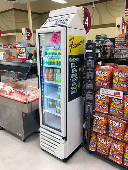 Grab-And-Go Branded Carton Cooler Display